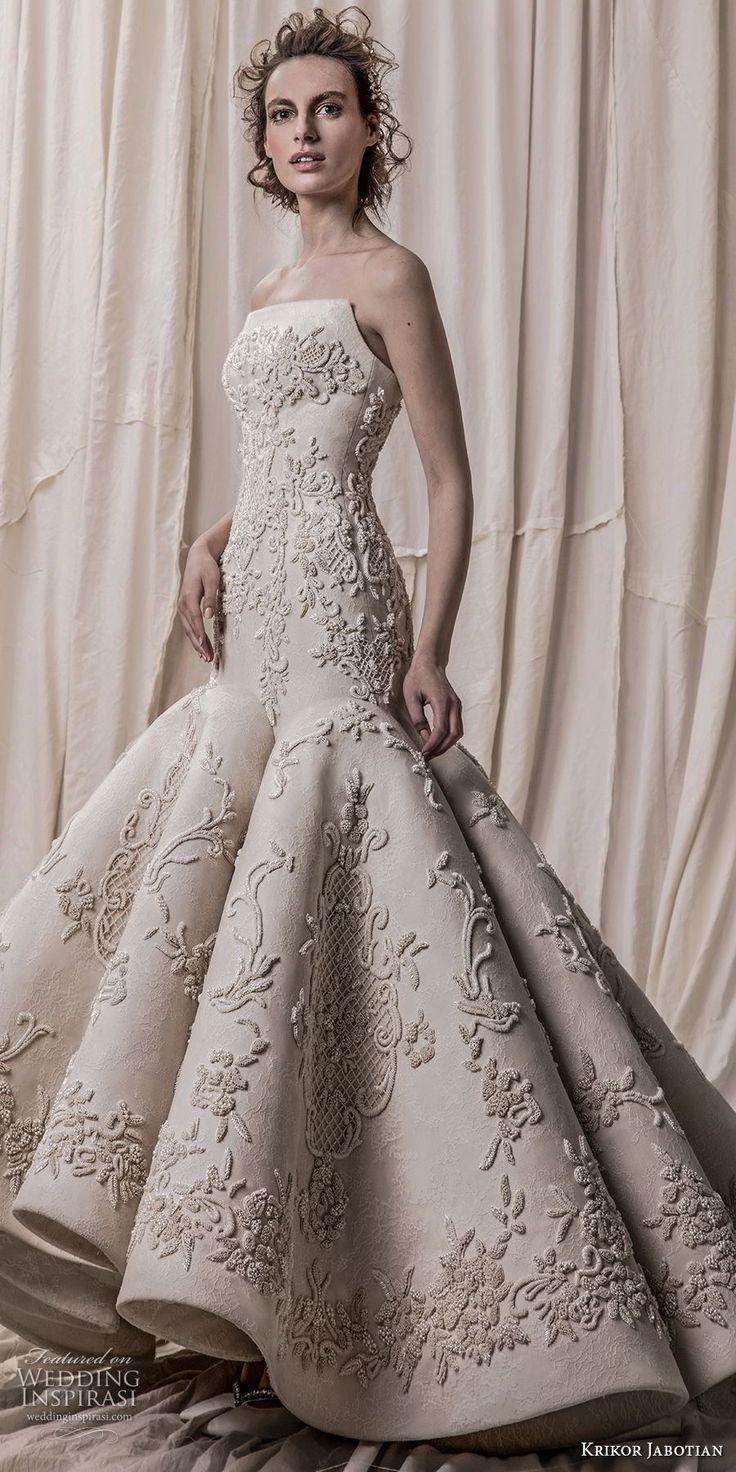 I need a dress for a spring wedding  krikor jabotian spring  bridal strapless sweetheart neckline