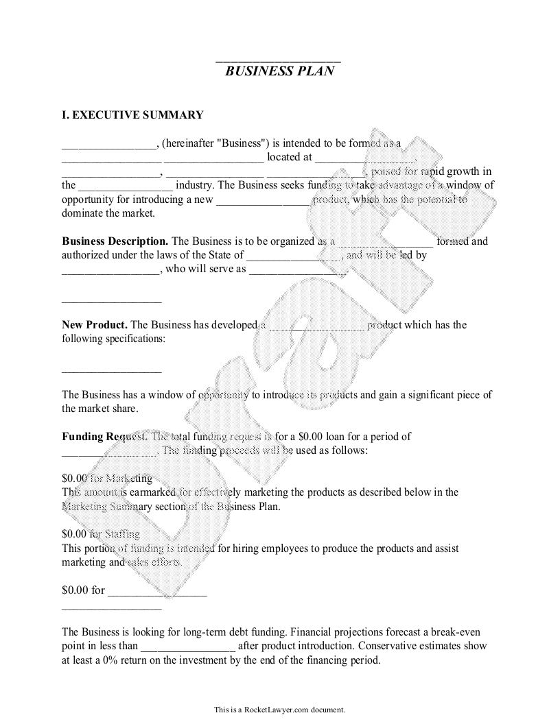 Business Plan Preview in 2020 Business plan template
