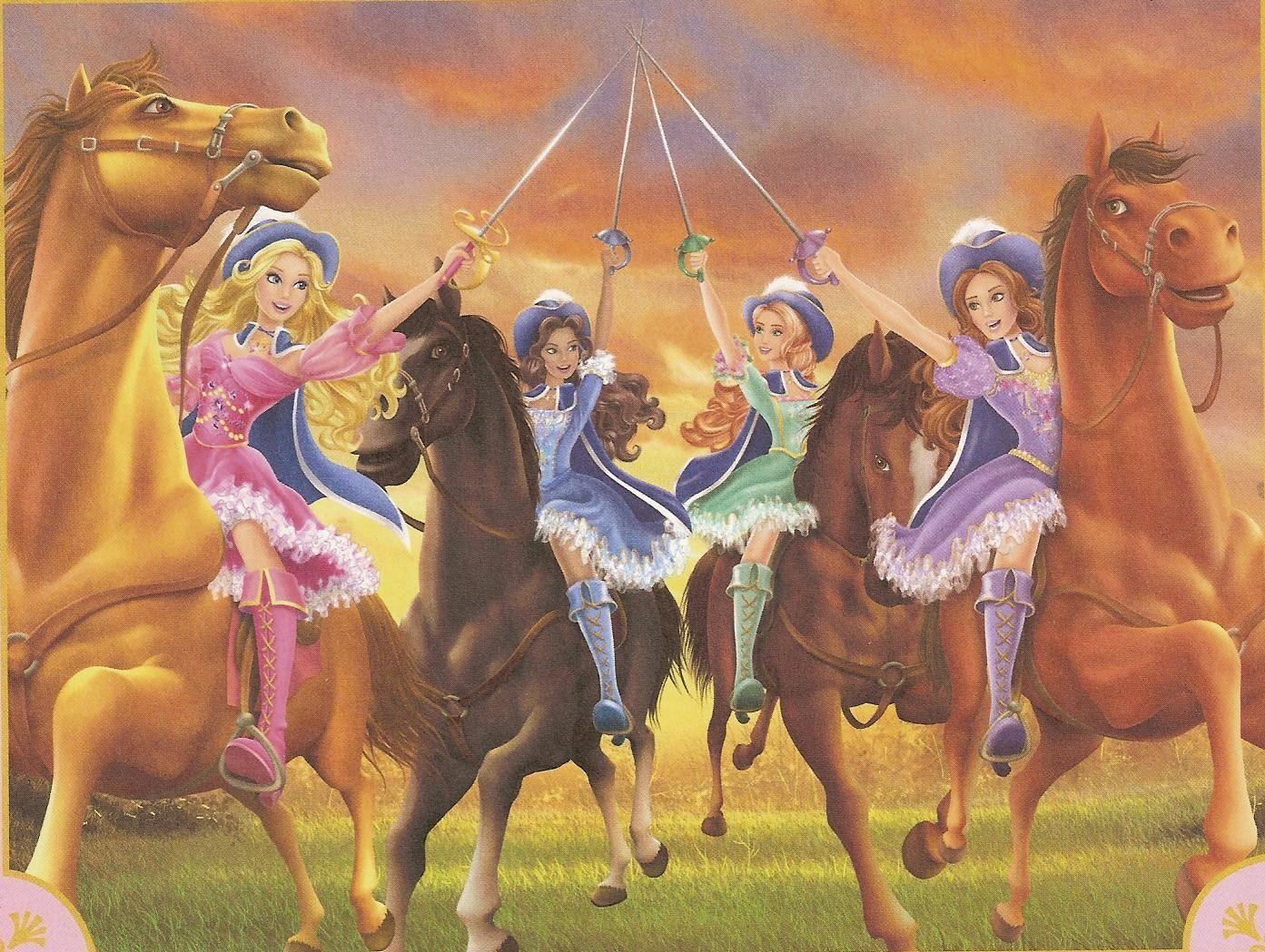 Барби и три мушкетера смотреть онлайн