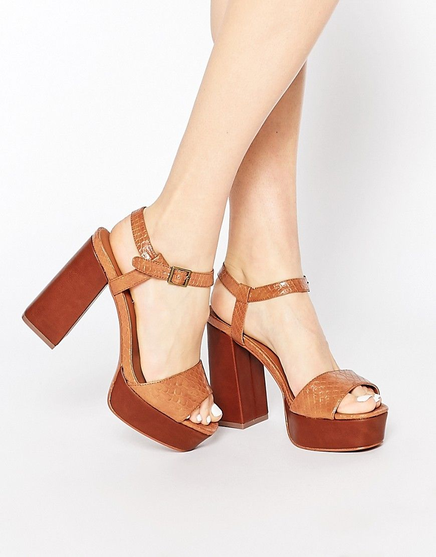 049d4a896f55 Image 1 of Truffle Collection Regan Platform Heeled Sandals