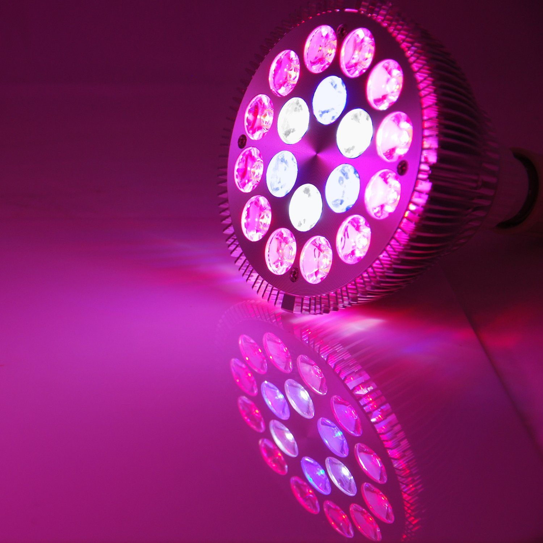 Abi 18w Full Spectrum Led Grow Light Bulb Par38 Blue 450460nm Red 620630 Nm Deep Red 660nm Cold White 100 Led Grow Light Bulbs Led Grow Lights Grow Light Bulbs