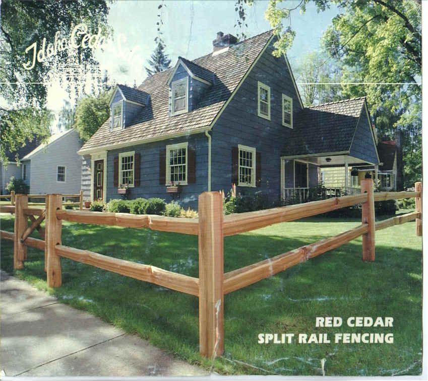 Red cedar split rail fencing | Ranch front gate ideas | Pinterest ...