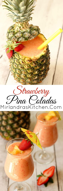 summertime strawberry pina coladas recept drinkar. Black Bedroom Furniture Sets. Home Design Ideas