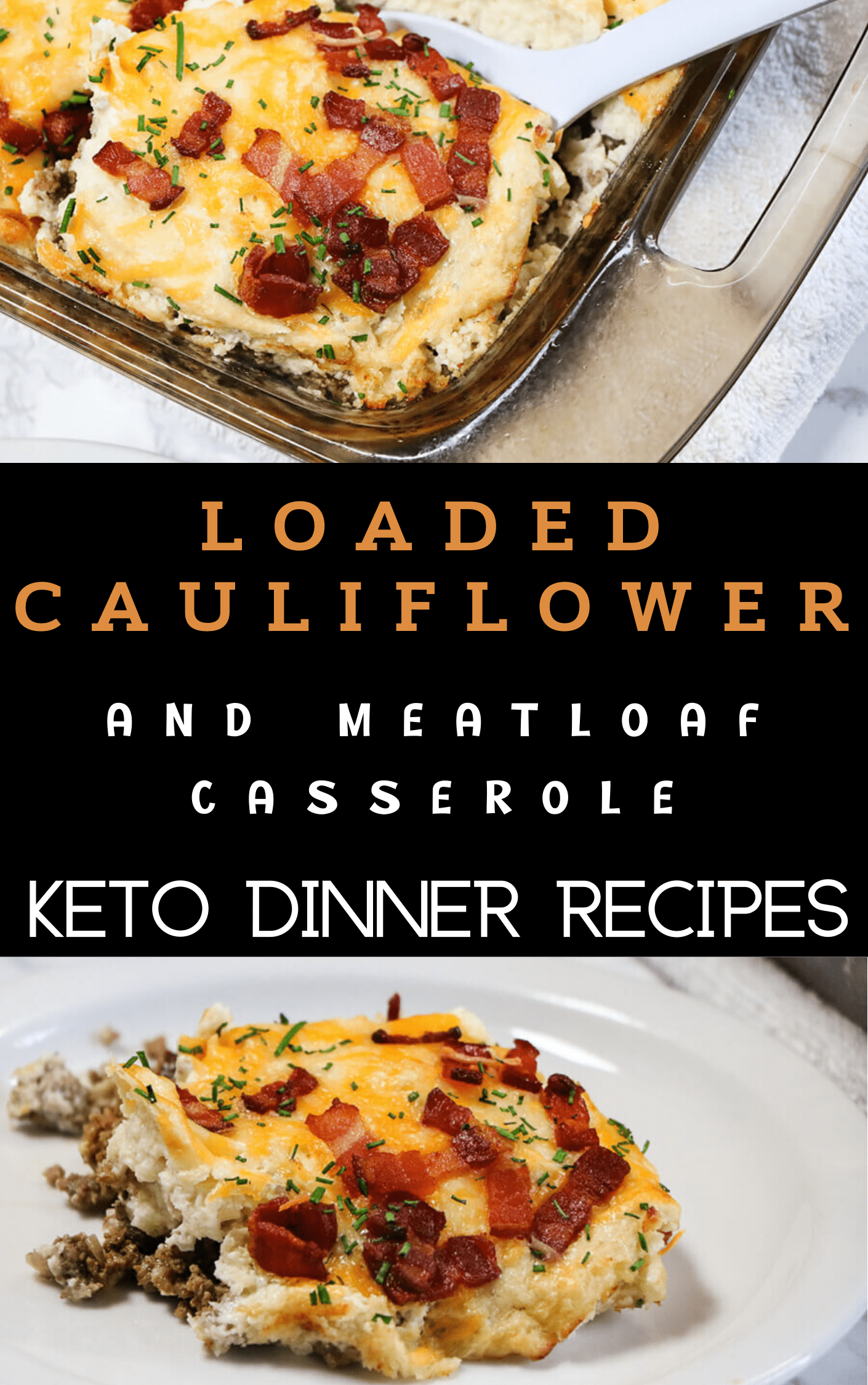 LOADED CAULIFLOWER AND MEATLOAF CASSEROLE KETO DINNER RECIPES  A quick meatloaf slathered in creamy mashed cauliflower, then topped with lots of melty cheese and crisp bacon. ... To make things easy, I used frozen cauliflower for this dish. ... Mix the crushed pork rinds and egg into the ground beef mixture.  You've visited this page 2 times.  LOADED CAULIFLOWER  MEATLOAF CASSEROLE  KETO DINNE RRECIPES  keto  keto recipes  #LOADEDCAULIFLOWER  #MEATLOAFCASSEROLE  #KETODINNERRECIPES  #keto  #ketor
