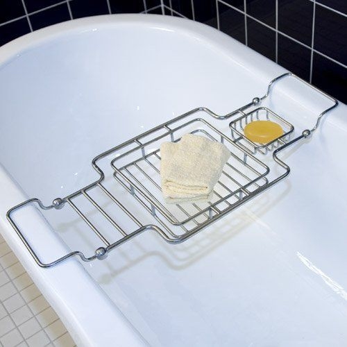 Square Brass Bath Caddy - Chrome by Nottingham Brass. $119.95. This ...
