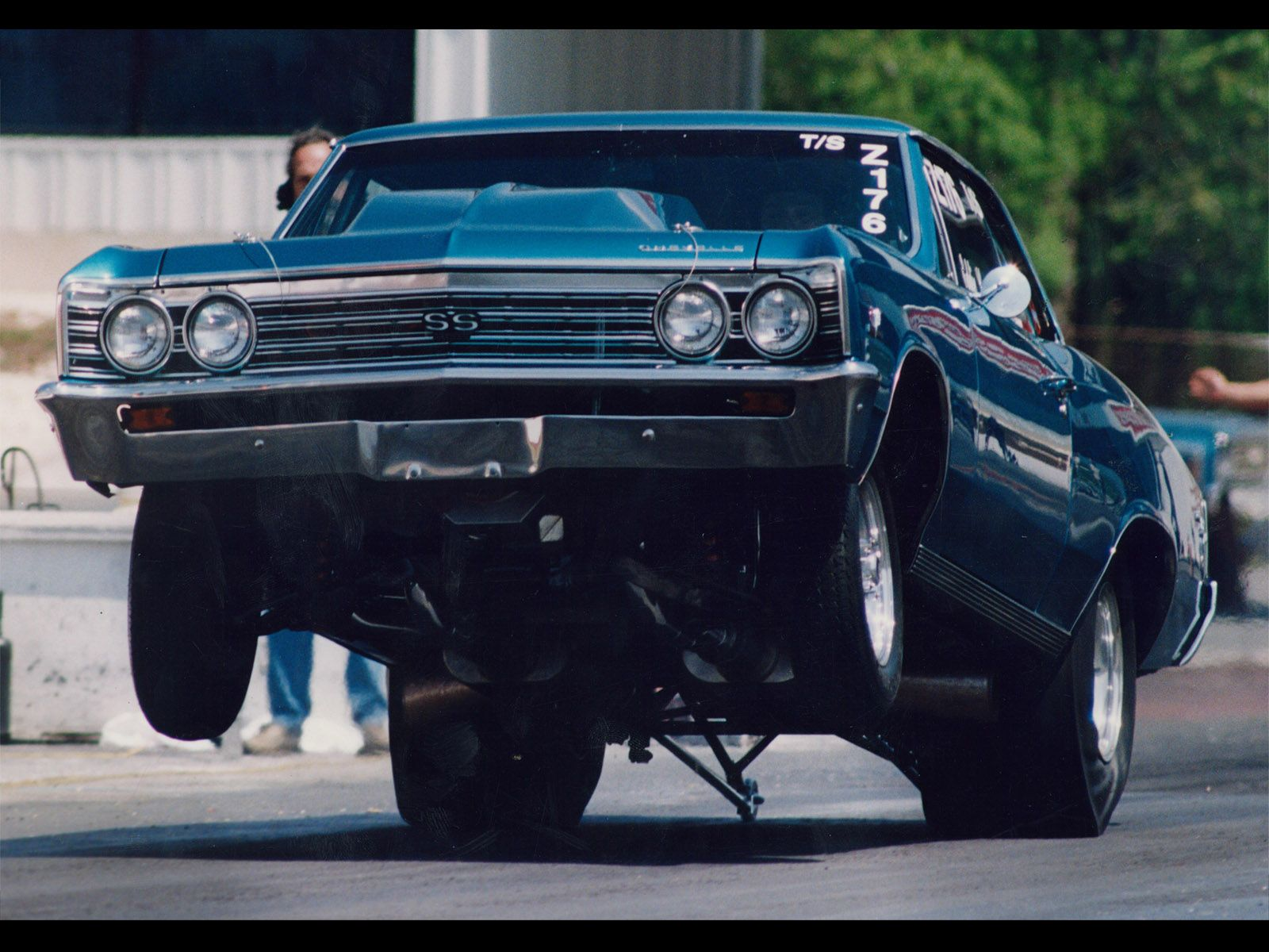 Girl And Hot Rod Muscle Car Wallpaper Hot Rod Muscle Cars