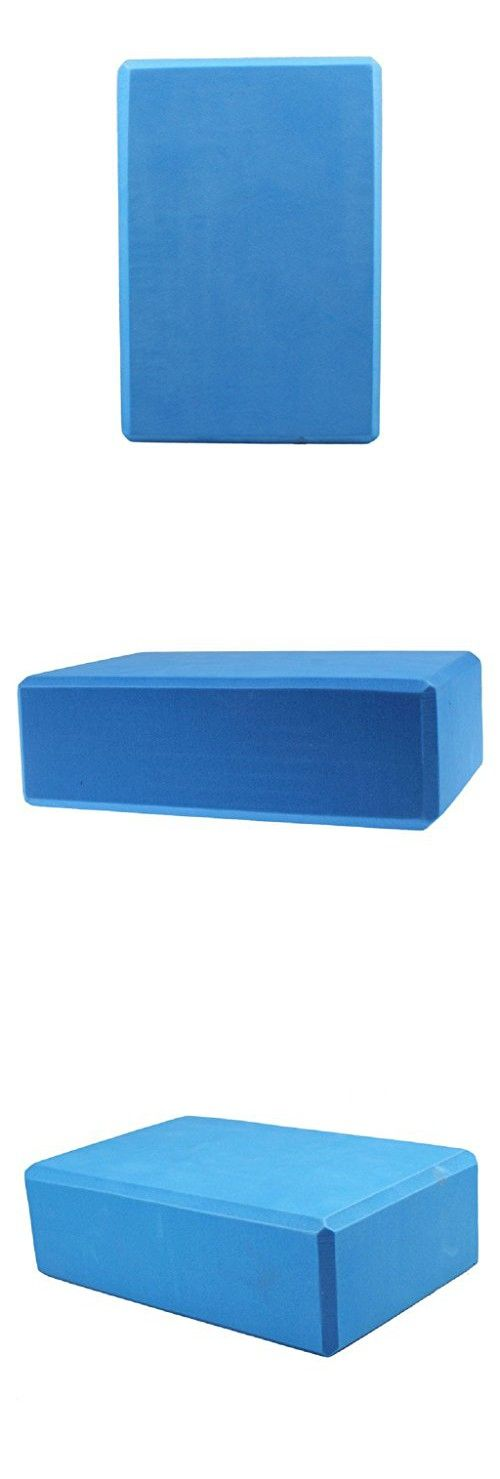 Anboo EVA Yoga Block Brick Sports Exercise Fitness Gym Workout Stretching (Blue)