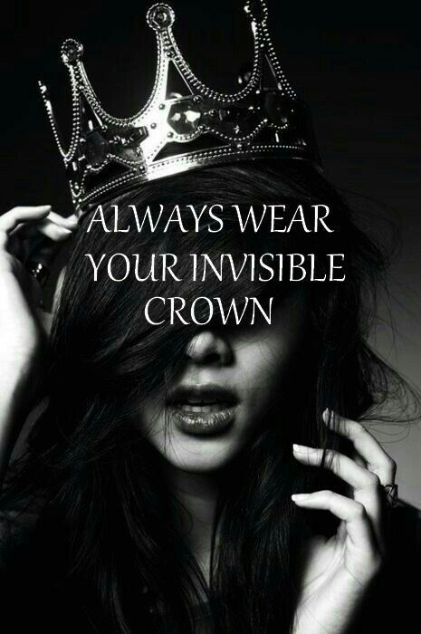 Pin By Lebanese Weddings On Qoutes Invisible Crown Crown Quotes Black White Quotes