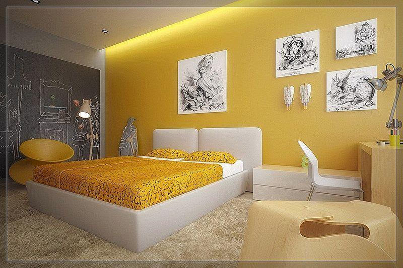 Yellow Bedroom Ideas Yellow White Kids Room1 Bedroom Paint