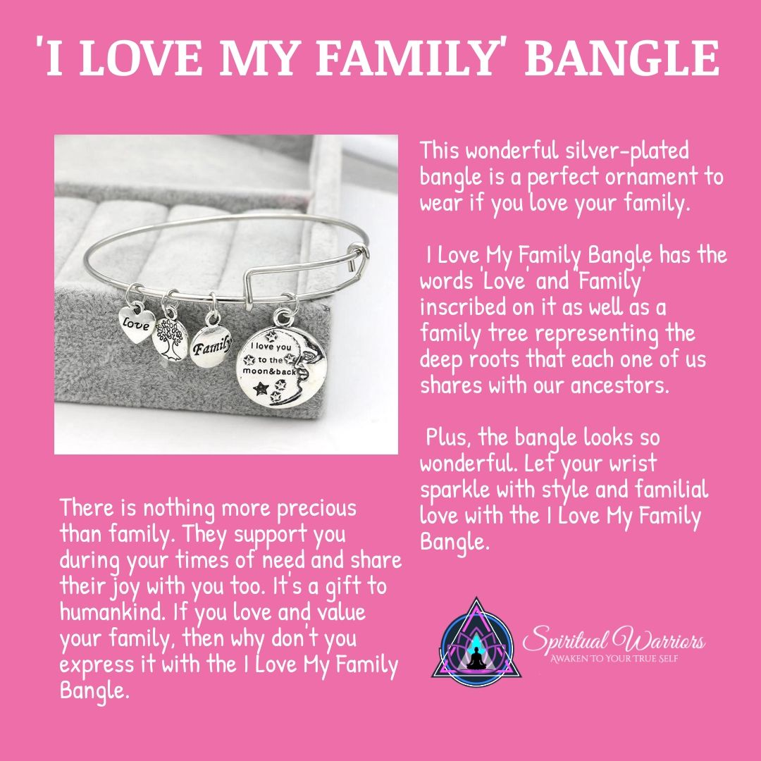 I Love My Family Bangle Love My Family Love Your Family My Love