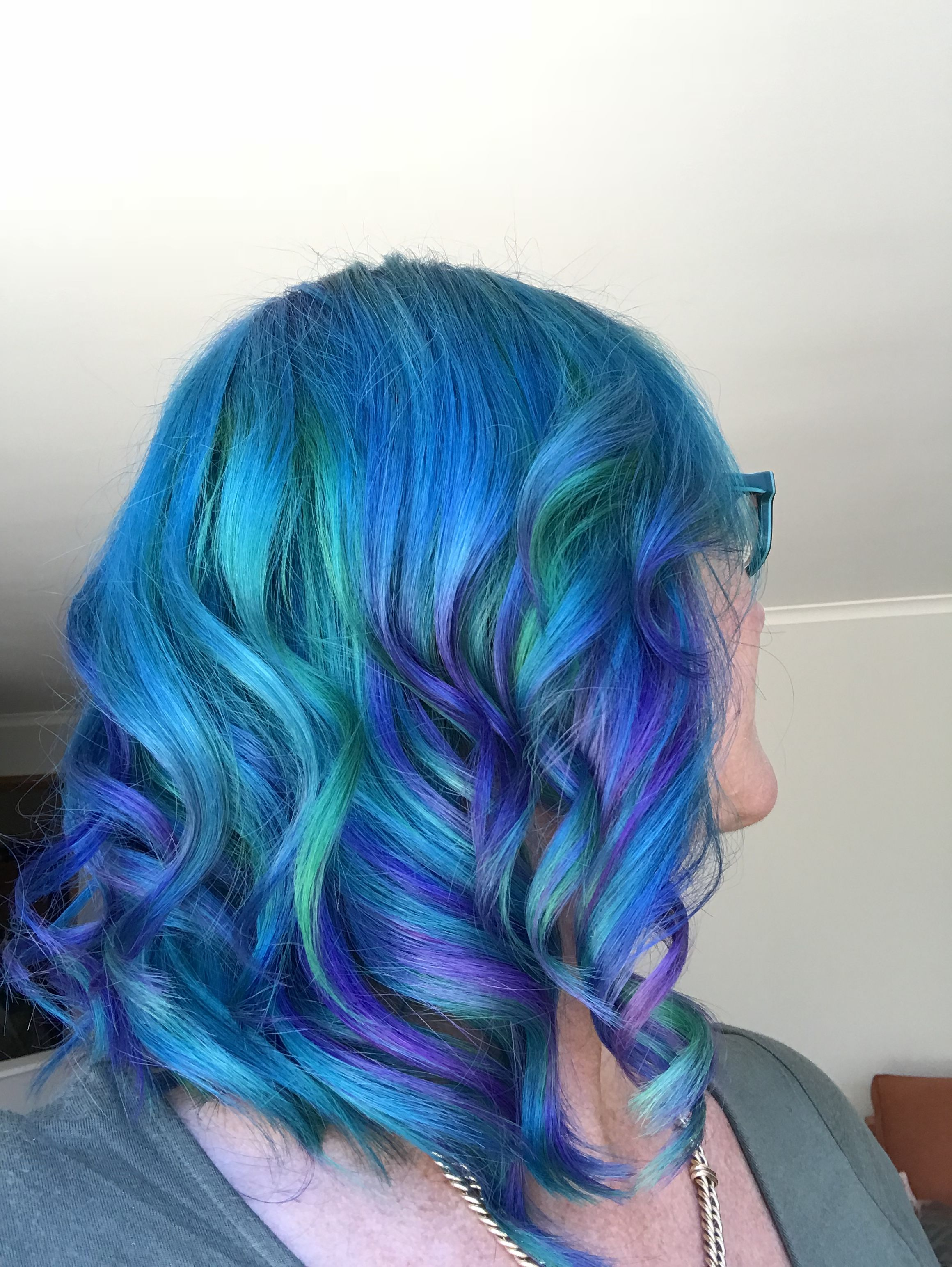 Arctic Fox Blue Hair Dye Aquamarine Poseidon Iris Purple Rain Handpainted