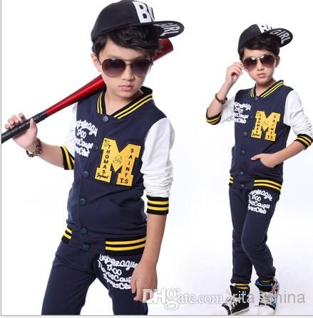 2-Piece Set Children Hoodies Training Suit Big Boy Casual Sets ...
