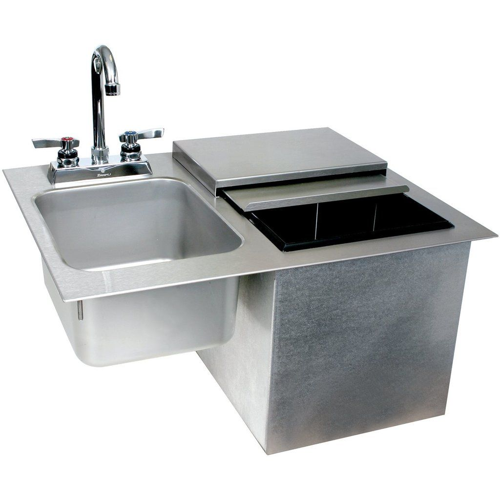 Glastender Commercial Drop In Ice Bin With Sink Faucet Ice