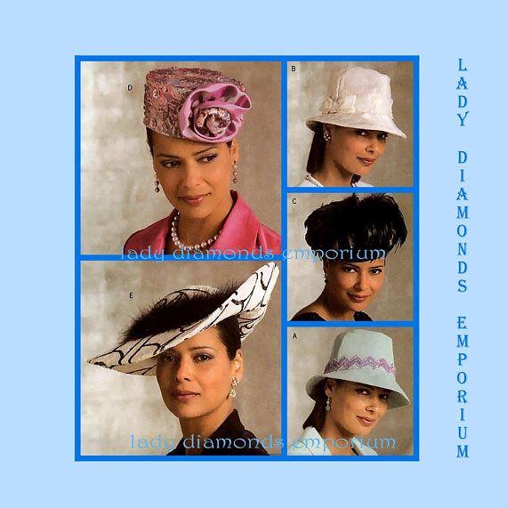 Butterick B4755 Womens Hat Patterns Five Fabulous Styles  58b42769def