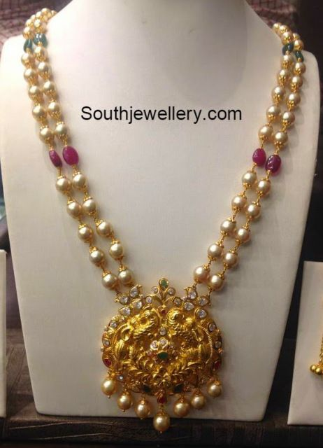 South Sea Pearls Mala Pearl Jewelry Sets Gold Pearl Jewelry Beautiful Gold Necklaces