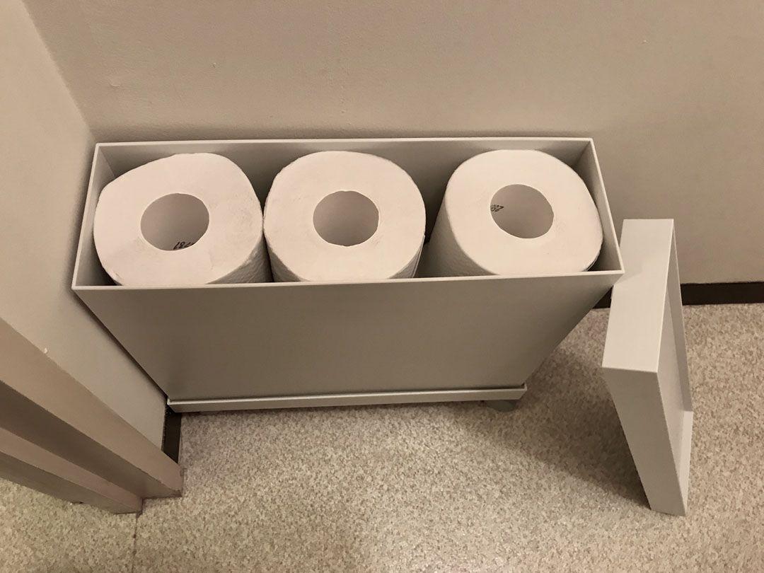 無印良品のフタとキャスターで生活が激変 トイレも美しく トイレ 収納 無印 トイレ収納 Diy トイレットペーパー 収納
