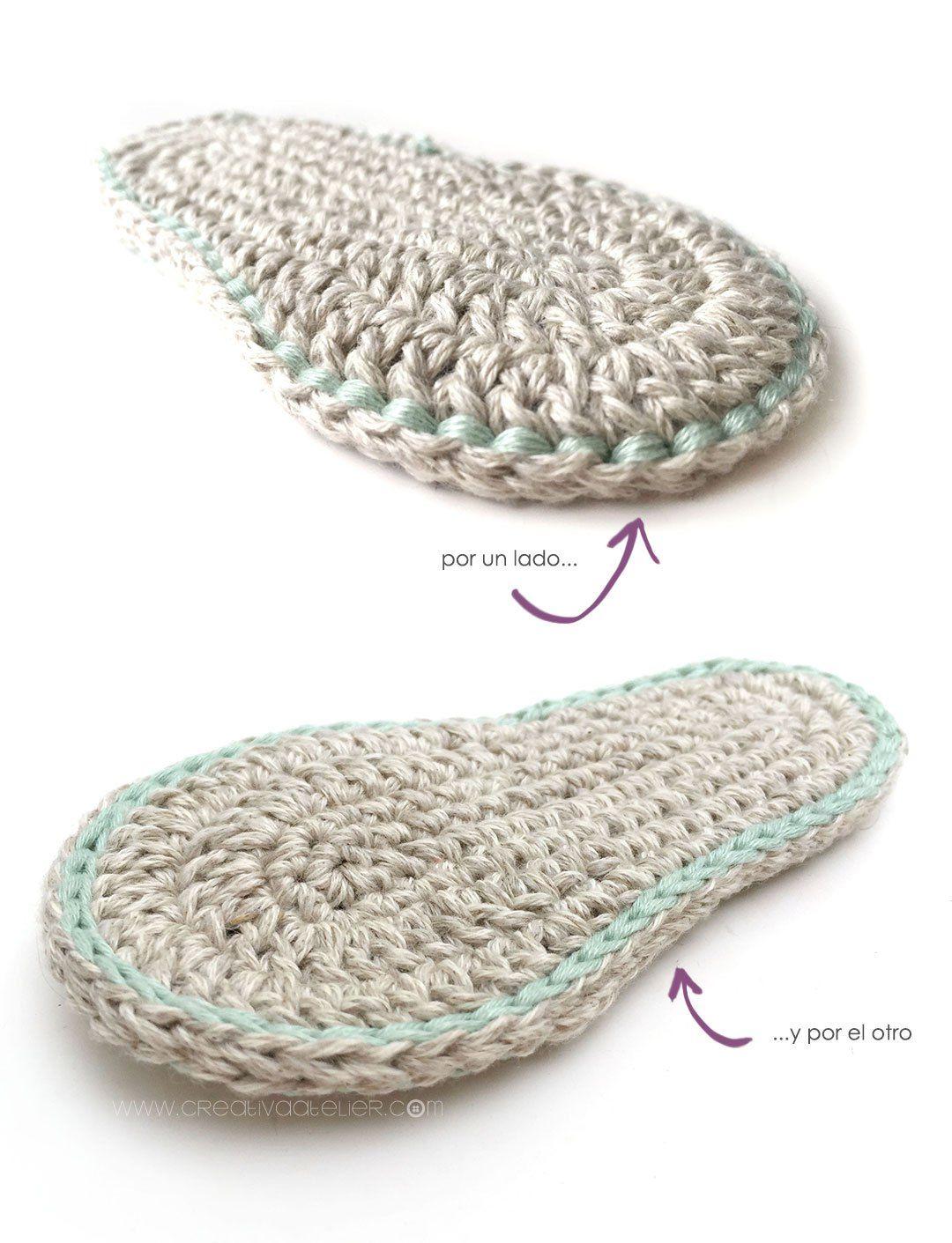 Excelente Crochet Sandalias De Bebé Patrón Libre Friso - Manta de ...