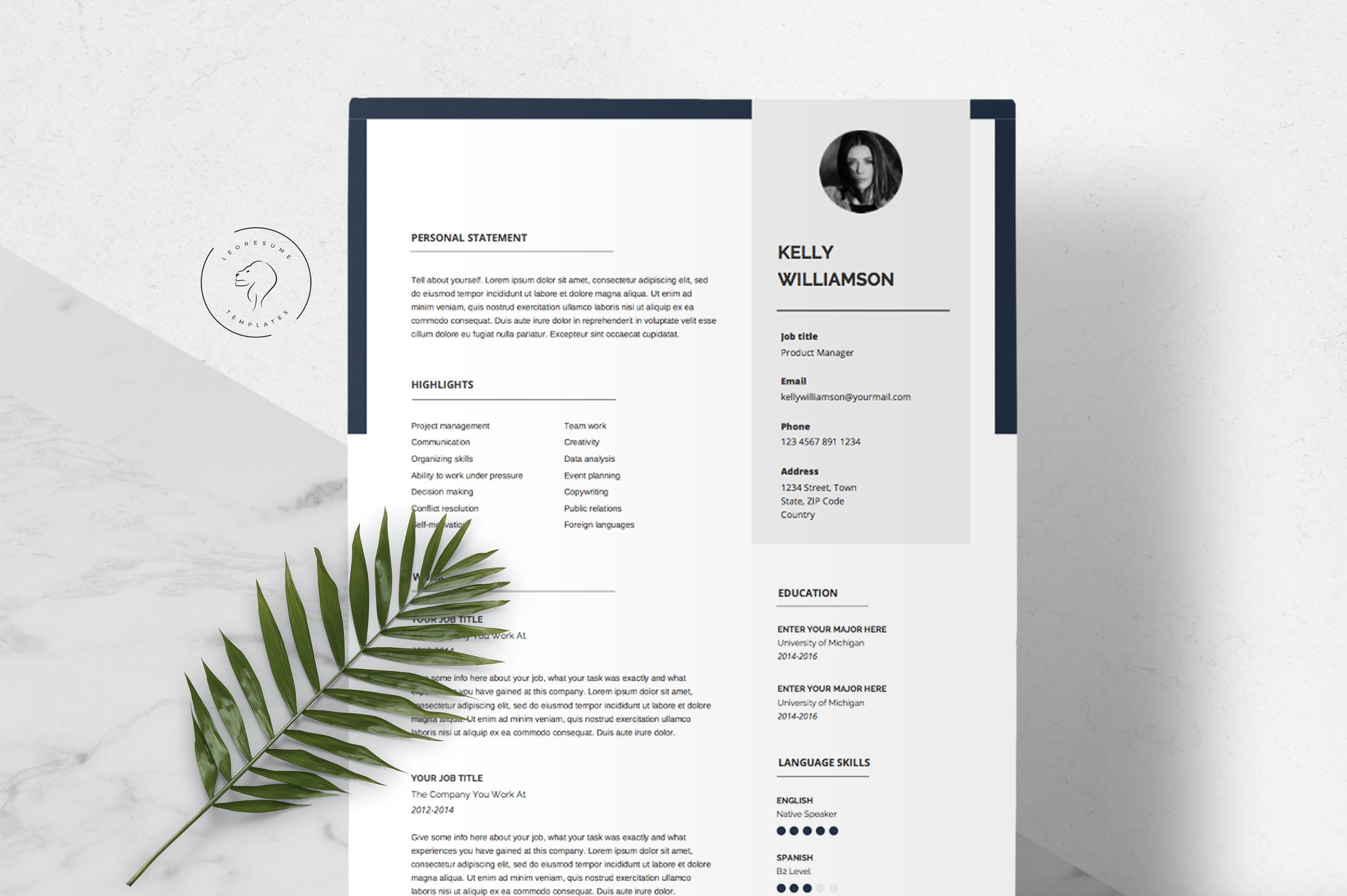 Resume Template Kit 5 Pages Resume Template Resume Design Template Templates