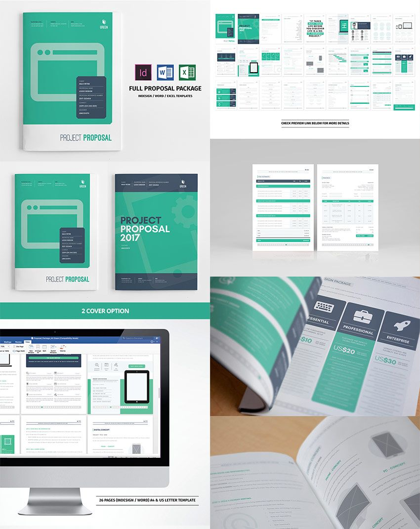 Full Business Proposal Template Package Design | identity ...