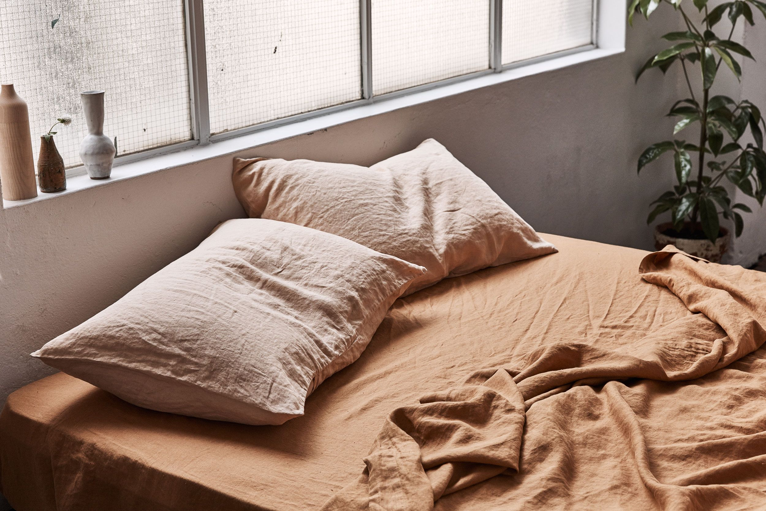 The Australian Linen Label Making Waking Up That Much Harder is part of Bedding stores -  Space bed