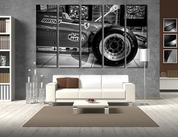 Old Ferrari F1 Wall Art Ferrari Wall Decor F1 Wall Art Cars Canvas ...