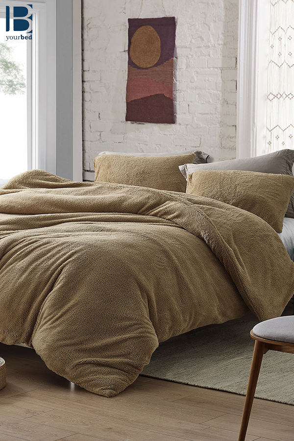 Extra Large Twin Queen Or King Comforter Made Of Cozy Plush And Thick Polyester Fill In Neutral Taupe Color King Duvet Cover Twin Xl Duvet Covers Single Duvet Cover
