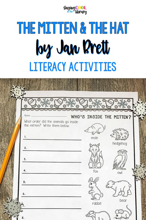 The Mitten and The Hat by Jan Brett Bundle Literacy