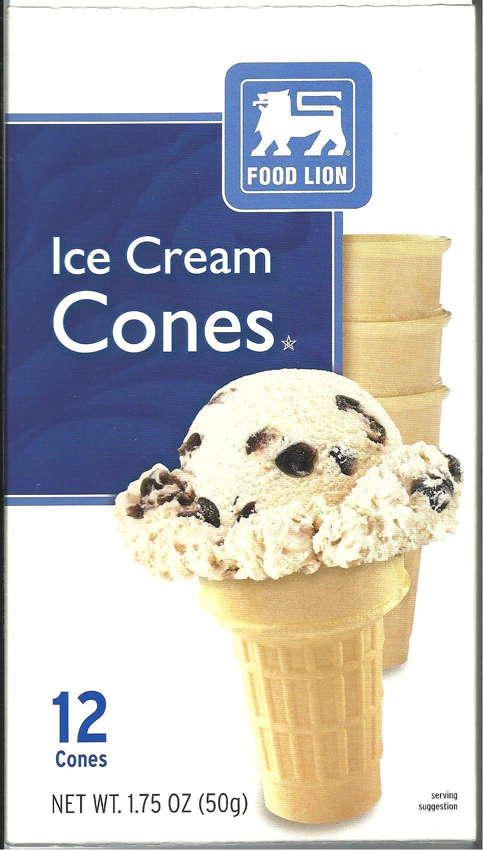 Food lion ice cream cones food ice cream ice cream cone