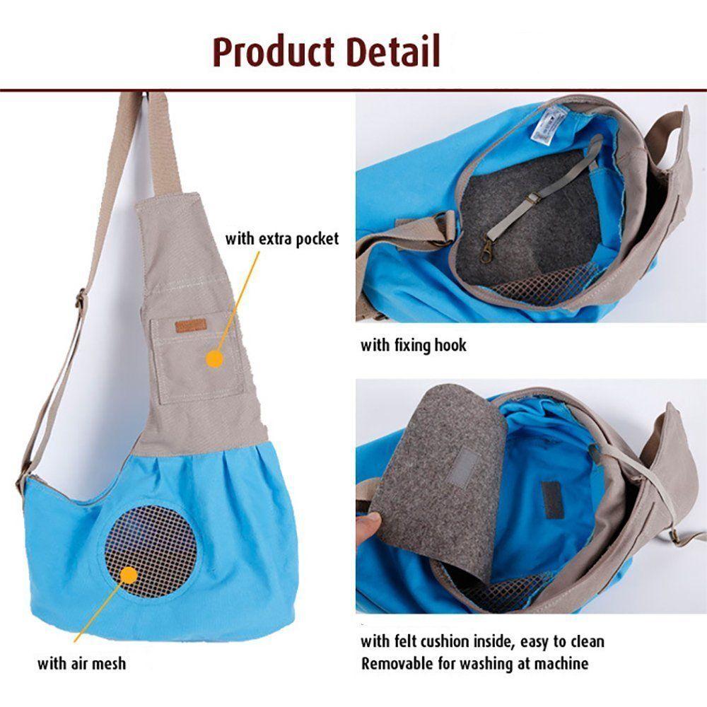 Pet Sling Carrier, PYRUS Dog Sling Bag
