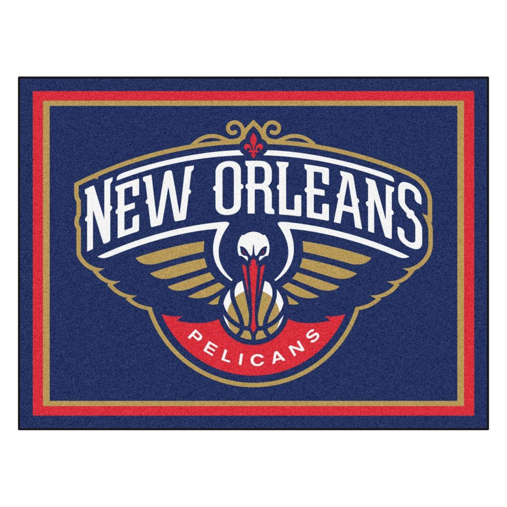 New Orleans Pelicans 8x10 Plush Area Rug I Will Vectorize