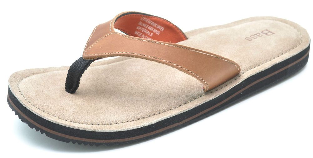 4c598295120c G.H. Bass GIZMO Tan Brown Leather Thongs Sandals Flip-Flops Women s 11 -  NEW  GHBass  FlipFlops