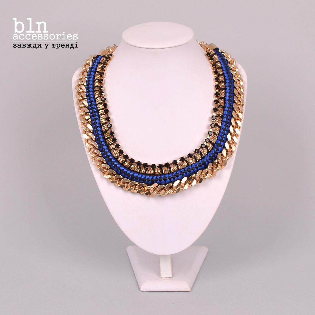 Стильне кольє в магазинах BLN accessories \ Stylish necklace in stores BLN accessories.