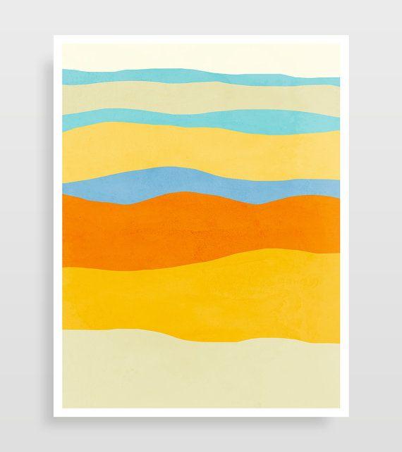 Colorful Wall Art Set of 3 Prints Abstract Art Prints Living ...