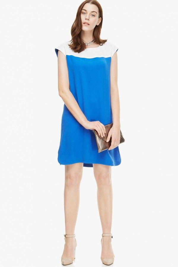 vestidos-gorditas-primavera-verano-2014-modelo-azul-blanco-crepe ...