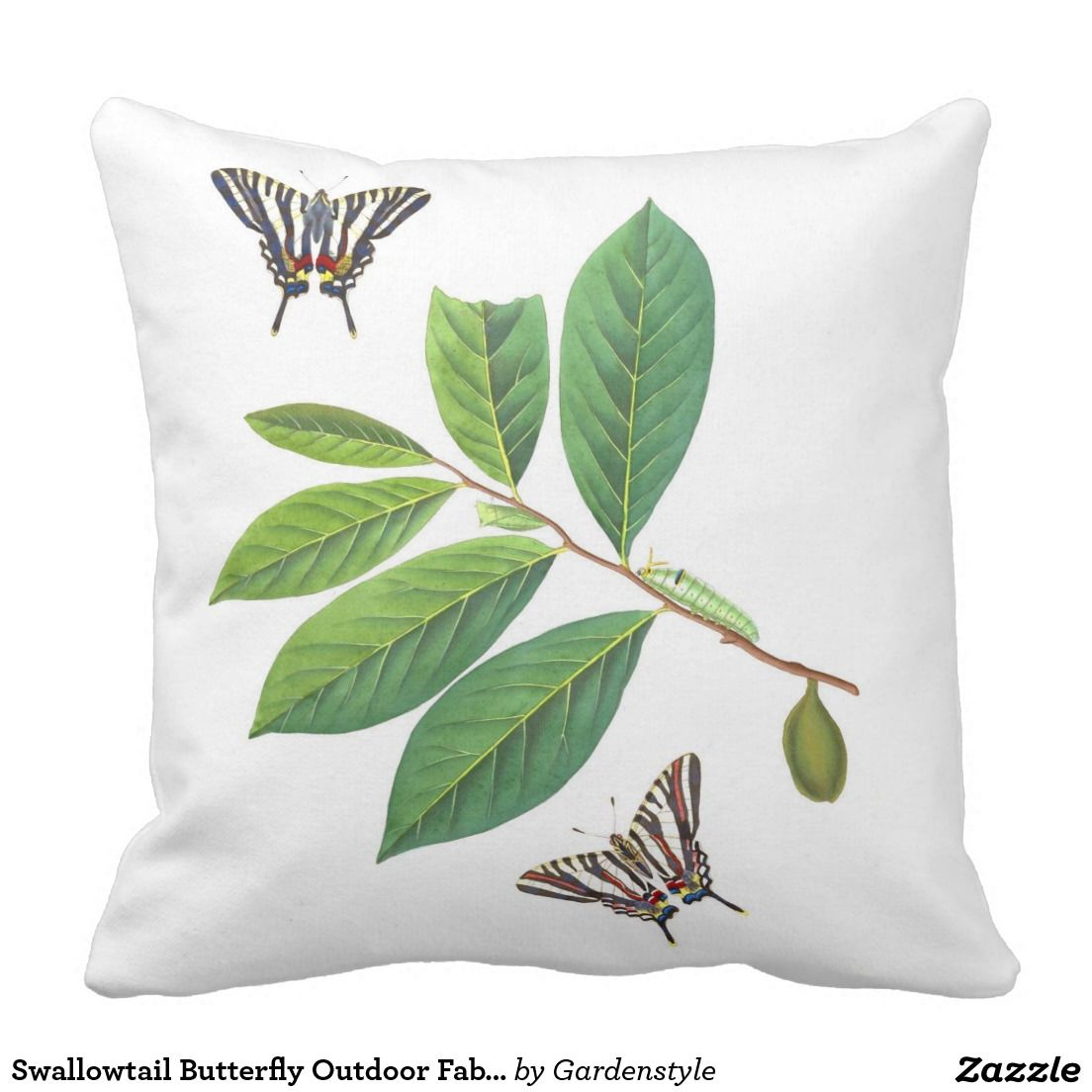 Swallowtail Butterfly Outdoor Fabric Throw Pillow Outdoor Pillows and Cushions Pinterest ...