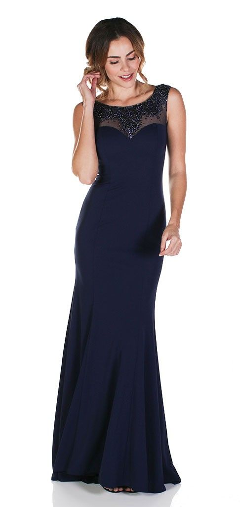 1a8d35c708e6 Refined and sophisticated, this chic evening dress from Clarisse M6241 is a  beautiful choice for