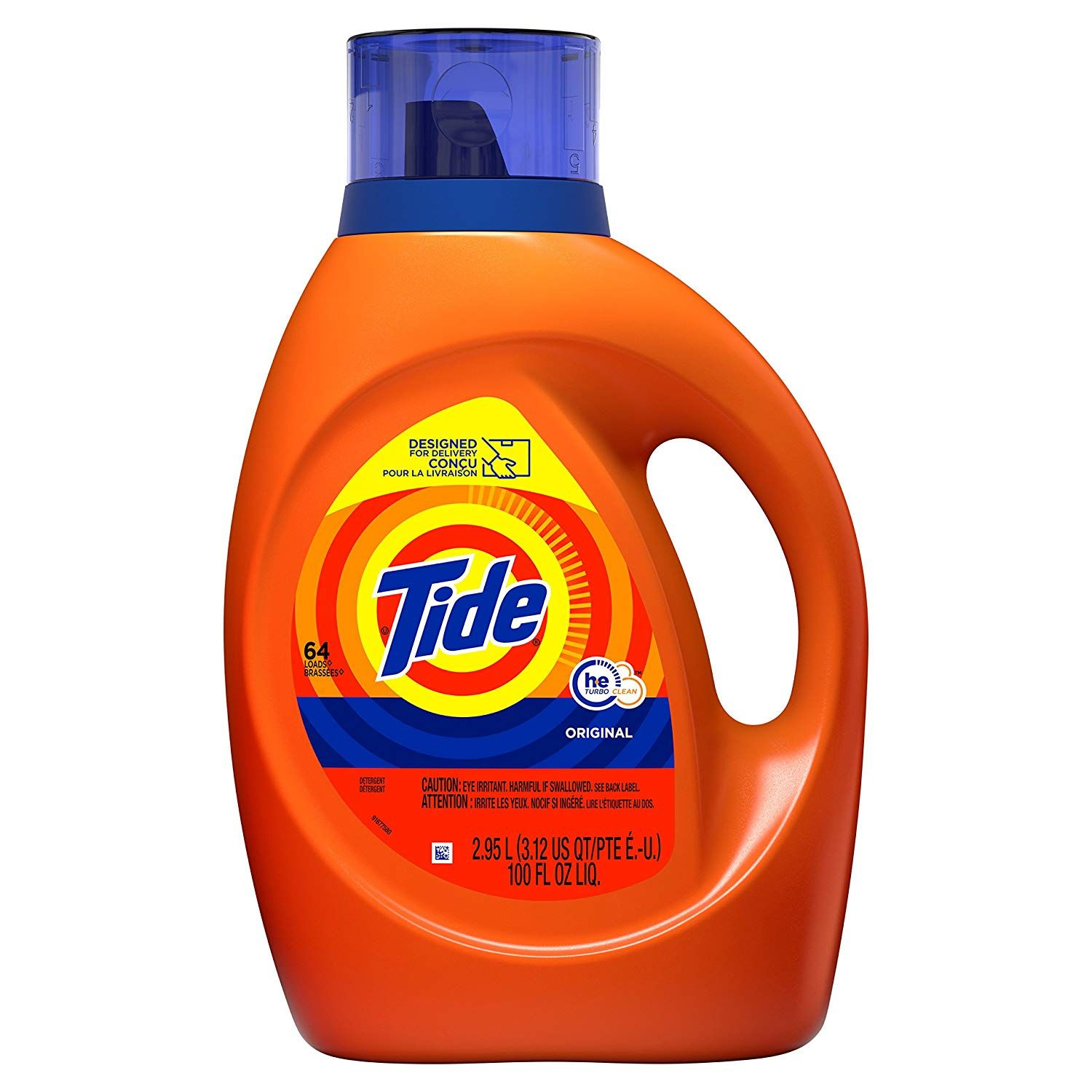Tide Laundry Detergent Liquid Original Scent He Turbo Clean 100