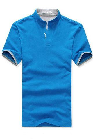 Men T Shirt Slim Knitted Polo Tee Size M L Xl Xxl Xxxl 4xl New Neck Short Sleeve