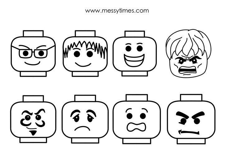 Printable Lego Faces u003cbu003elego faceu003c\/bu003e templates birthday party - printable face templates