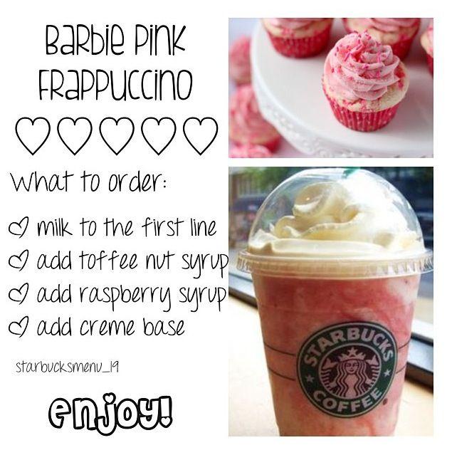 starbucks barbie pink frappuccino sweet pinterest starbucks