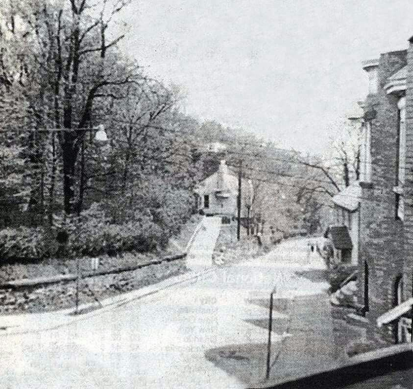 Looking down the former Mill Street.