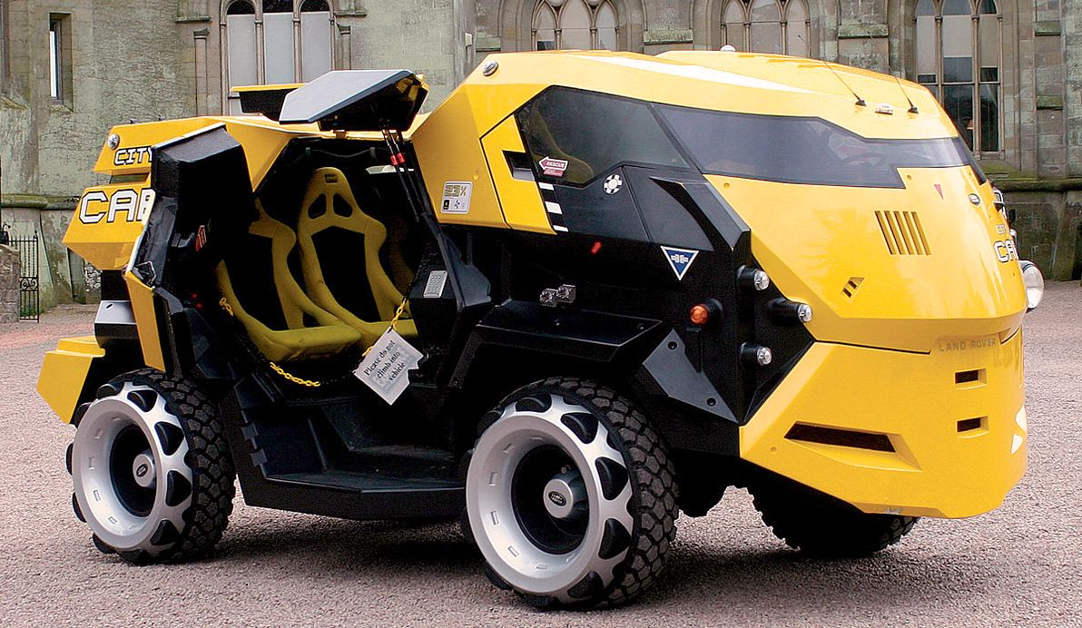 That Time Land Rover Made A Futuristic Taxi For Hollywood Cars Movie Vehicles Land Rover