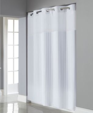 Hookless Victorian Satin Stripe 3 In 1 Shower Curtain Reviews