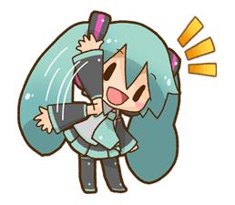 Hatsune Miku All Together Line Stickers Line Store Anime Drawings Sketches Miku Line Stickers