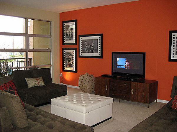 Orange Paint Colors For Living Room living room accent walls paint ideas | home things | pinterest