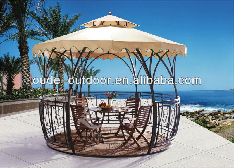 Outdoor muebles antiguos real metal gazebo jardín real-imagen ...
