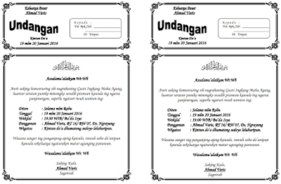 Surat Undangan Kintun Do A Bahasa Jawa F4 Dibagi 2 Undangan8
