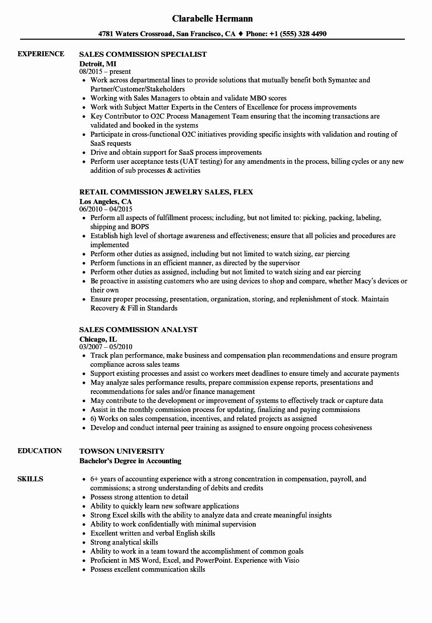 Outside Sales Resume Examples Elegant Mission Sales Resume