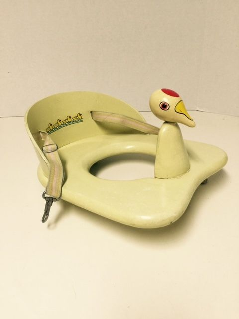 VINTAGE 1950'S DOO-TEE DUCK POTTY TRAINING WOODEN TOILET SEAT BY CARLSON MFG. CO #Carlson
