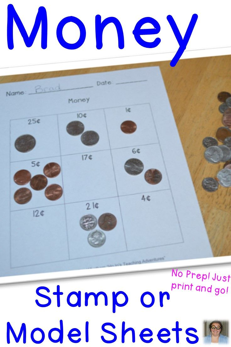 Use Money Stamps Fake Coins Or Real Coins To Model The Numbers Shown In Each Square These Five Sheets Wo Money Math Teaching Money Counting Money Worksheets [ 1104 x 736 Pixel ]